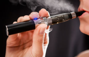 E-Cigarette Being Smoked