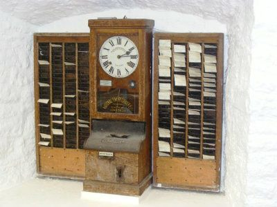 Time clock at wookey hole cave museum